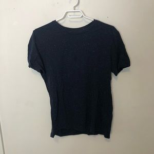 h&m navy with white speckles t-shirt.